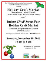 Cathedral Area Community Association Holiday Craft Markets