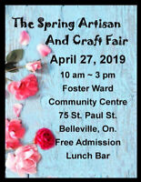 The Spring Artisan and Craft Fair