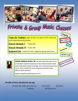 PRIVATE LESSONS AND GROUP MUSIC CLASSES