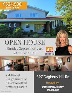 OPEN HOUSE Sun, Sept 23rd 2 - 4 pm