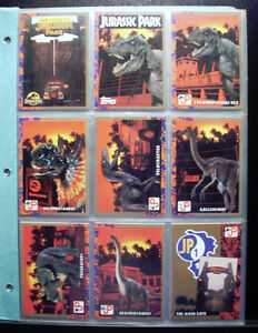 JURASSIC PARK CARDS - TOPPS (88 cards + 11 stickers)