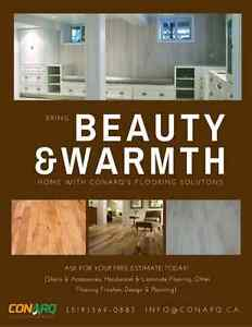 Bring Beauty & Warmth Home with CONARQ Flooring Solutions Kitchener / Waterloo Kitchener Area image 1