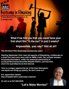 BOOT CAMP IN FILM MAKING