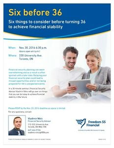 Financial Planning: Six Before 36 London Ontario image 1