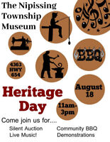Heritage Day at the Nipissing Township Museum