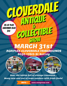 Antique & Collectable Show Mar 31st