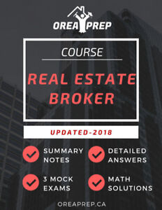 """** 50% OFF - OREA Notes Real Estate as a Professional Career"