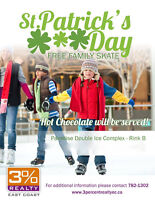 FREE St. Patricks Day Skate - Hosted by 3% Realty