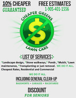 CHEAPER GREENS LAWN CARE 10% OFF NEW CLIENTS