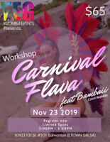 Carnival Flava workshop with Bambaii!!!