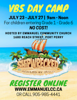 Shipwrecked Summer VBS Day Camp Port Perry - July 23-27