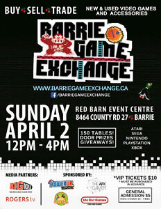 Barrie Game Exchange THIS SUNDAY April 2nd Video Game Swap Meet