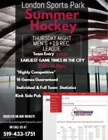 *Summer Hockey Men's +19 Rec* Thursday Nights