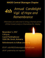 MADD 4th Annual Candlelight Vigil of Hope and Remembrance