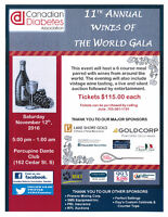 11th Annual Wines of the World Gala for Diabetes
