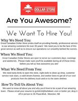 Are You Awesome? We Want To Hire You! F/T Store Clerk Needed!