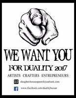 Duality Bazaar 2017 - Looking for Artists, Crafters, Vendors