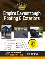 Eavestroughs, Roofs, Siding & Exteriors