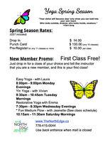 Yoga - Spring Programs in the Hart!