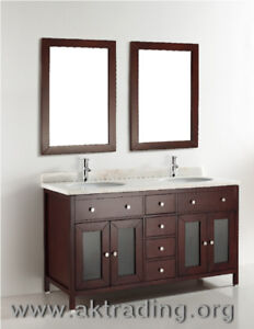 Double sink vanity is ideal for any larger setting