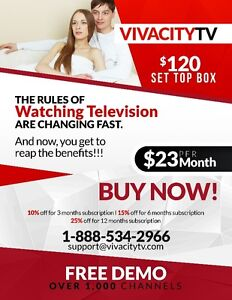 OVER 1,000 CHANNELS FOR ONLY $23/MONTH – IPTV