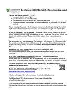 Chronic Pain Study: Seeking Participants age 18+