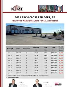 Brand New Office Warehouse Units For Sale or Lease