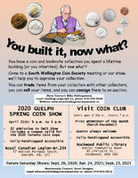 COIN SHOW IN GUELPH SATURDAY APRIL 25th, 2020