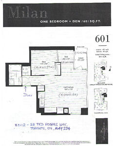 Downtown Luxury One Bedbroom+one Den Condo for Rent
