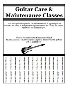 NEW DATE - Guitar Care & Maintenance Classes