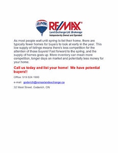 HOMES FOR SALE IN GODERICH!