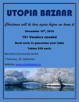 Utopia Bazaar - 70+ vendors December 10th, 2016