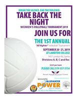 TAKE BACK THE NIGHT Women's Volleyball Tournament 2019
