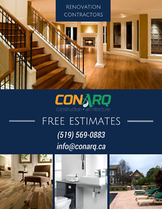 Great Rates, Great Dates on Renovation Projects! (519) 569-0883