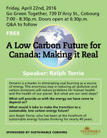 Speaker Series: A Low Carbon Future For Canada: Making It Real