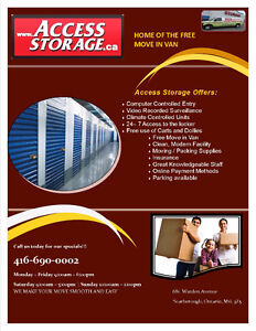 Storage Deals on Selected Units with Access Storage *