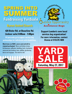 HUGE Indoor Fundraising Yardsale for Service Dogs