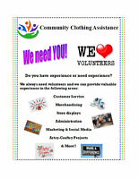 We love Volunteers! High school - Seniors, we need you!