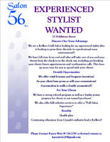 Experienced stylist wanted.