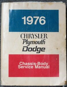 USED 1976 Plymouth Chassis-Body ServiceManual