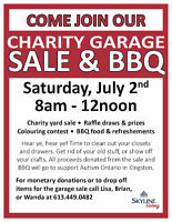 Charity Garage Sale and BBQ at 25 Briceland Street!