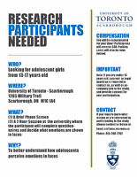 Healthy Adolescents Wanted for Paid Research Study at U of T