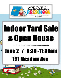 Indoor Yard Sale & Open House - Table Rentals available!