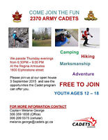 Join 2370 Army Cadets!