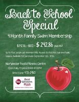 EXTENDED BY POPULAR DEMAND! 4 MONTH FAMILY SWIM! $100 SAVINGS
