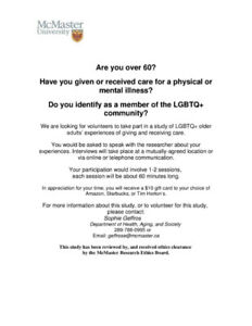 Research Participants Wanted -- LGBT+ Older Adults