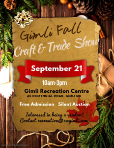 Gimli Fall Craft & Trade Show