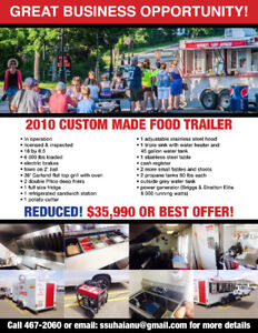 Food trailer for lease or lease to buy