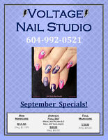 Back-to-School $pecials at VOLTAGE Nail Studio in New West!