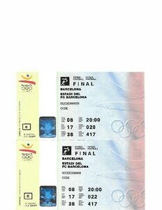 Olympic event ticket stubs (31) from 1992-2010